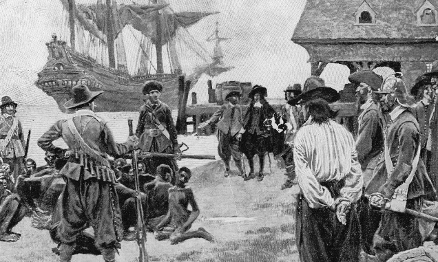 Landing of Negroes at Jamestown.
