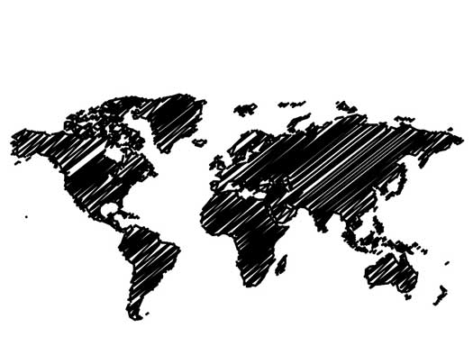 black-and-white-world-map-mural